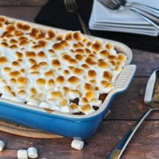 Sweet Potato Bread Pudding with Marshmallow Topping - Recipe on RachelCooks.com