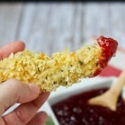 Turkey Tenders with Cranberry Barbecue Dipping Sauce on RachelCooks.com