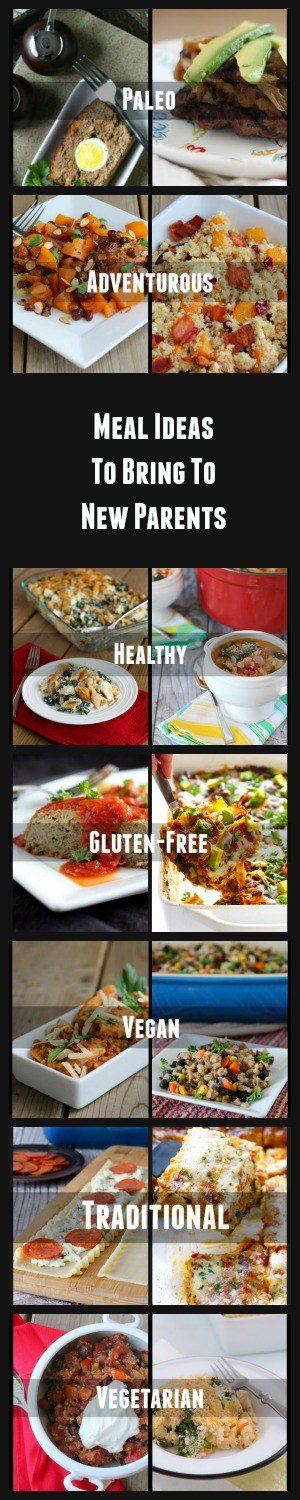 Great Ideas for What Meals to Bring to New Parents - Find them on RachelCooks.com
