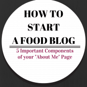 "How to Write an ""About Me"" Page - on RachelCooks.com"