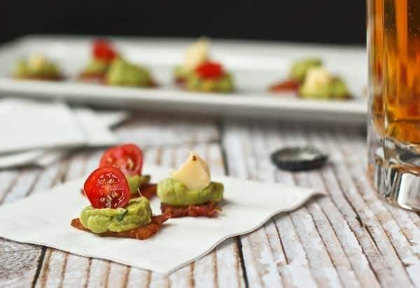 Bacon Guacamole Appetizer - get the EASY recipe on RachelCooks.com