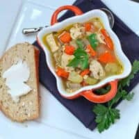Chicken Soup with Farro and Vegetables