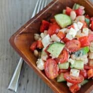 Chopped Greek Salad on RachelCooks.com