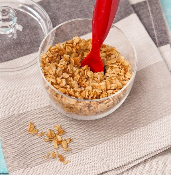 3 Ingredient Crunchy Oat Topping - Great on Sundaes