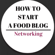 An important part of food blogging is networking -- find out some great ways to network in this post on RachelCooks.com