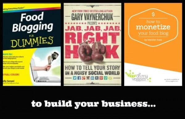 books to help build your food blogging business