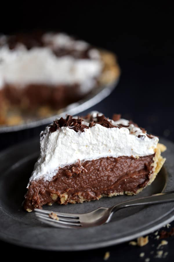 Chocolate Pudding Pie Recipe - HOMEMADE! - Rachel Cooks®