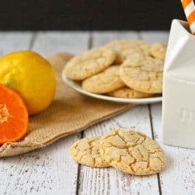 Lemon Clementine Crinkle Cookies on RachelCooks.com - you'll love these fresh and chewy cookies!