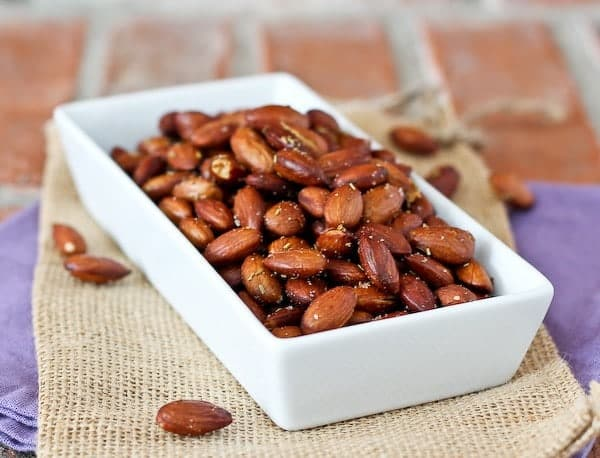 Olive Oil and Rosemary Roasted Almonds - get the recipe on RachelCooks.com