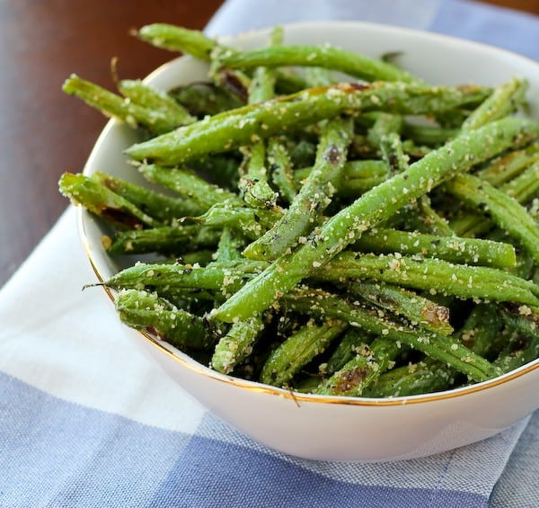 Roasted Green Beans With Parmesan And Basil (VIDEO