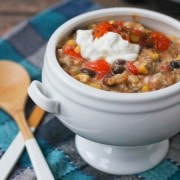 Southwestern Slow Cooker Barley and Ground Turkey Casserole - Get the easy recipe on RachelCooks.com