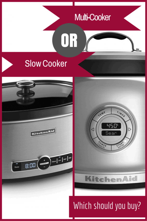 Slow Cooker vs. Multi-Cooker - which one is right for you and your family? Find out on RachelCooks.com