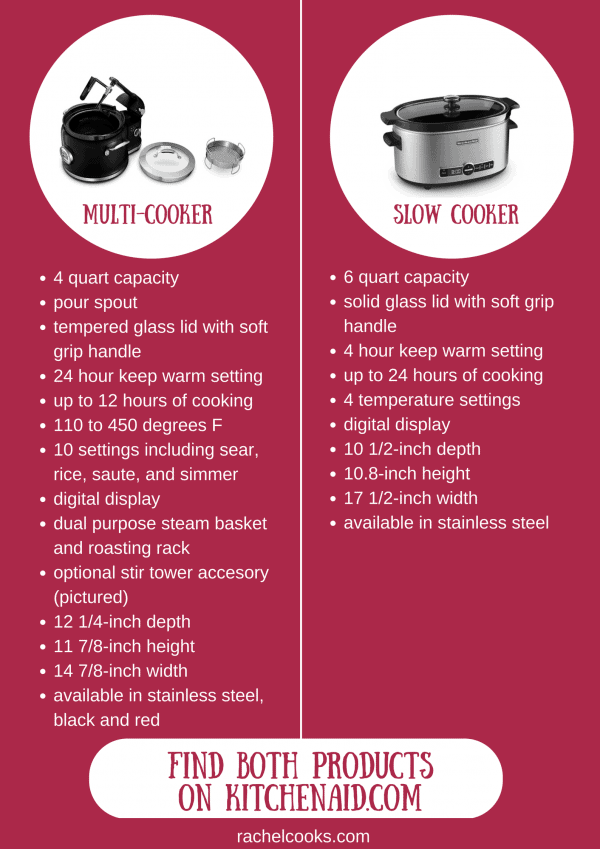 Slow Cooker vs. Multi-Cooker - which product is right for you? Find out on RachelCooks.com