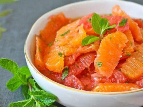 Citrus Salad With Mint Honey And Lime
