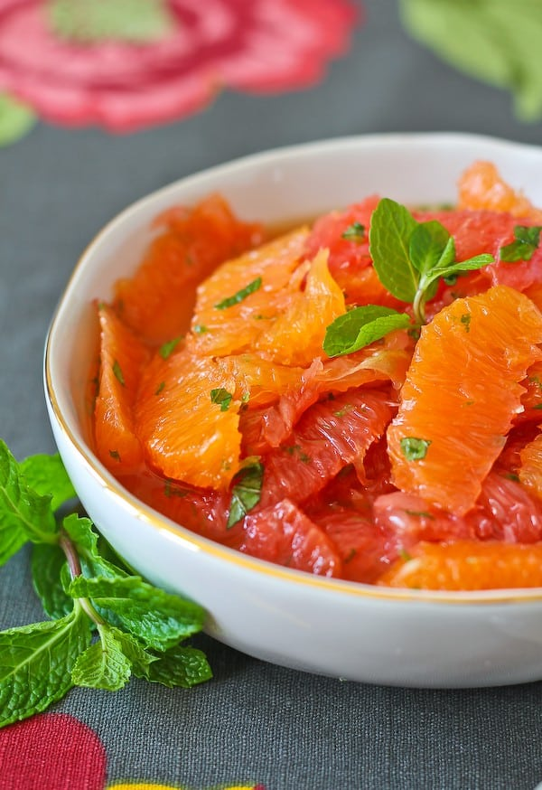 Citrus Salad with Mint, Honey, and Lime - get the easy and flavorful ...