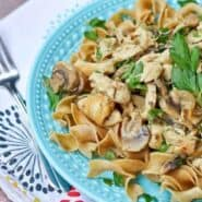 Healthy Chicken Stroganoff - get the 30 minute recipe on RachelCooks.com