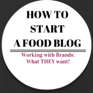 How to Start a Food Blog - Working with Brands -- what they want, from them! Great DO and DON'T list! Get it on RachelCooks.com