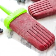 Tart Blueberry Lemon Popsicles - the perfect summer refreshment! Get the easy recipe on RachelCooks.com
