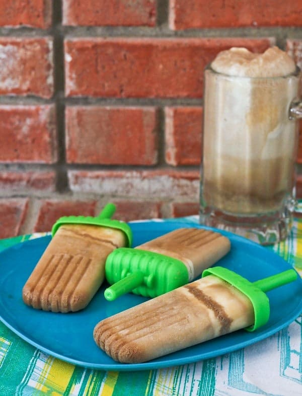 This root beer float popsicle has all the great flavor of a root beer float but in a portable form - perfect for summer snacking! Get the easy recipe on RachelCooks.com!