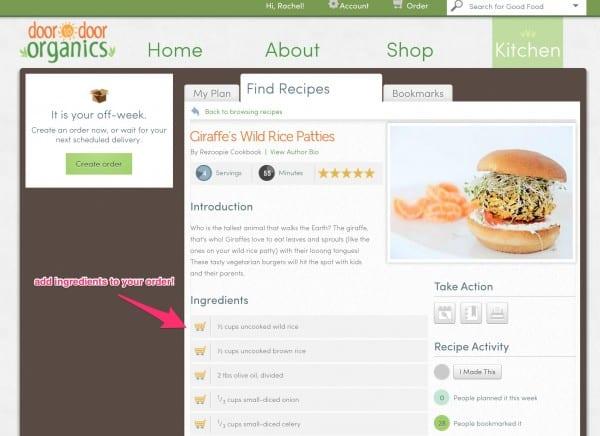 Ordering from Door to Door Organics