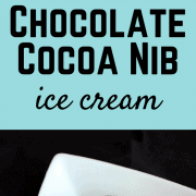 Chocolate Cocoa Nib Ice Cream - this one is for the chocolate lover! Get the recipe on RachelCooks.com!