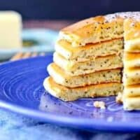Lemon Poppy Seed Cottage Cheese Pancakes