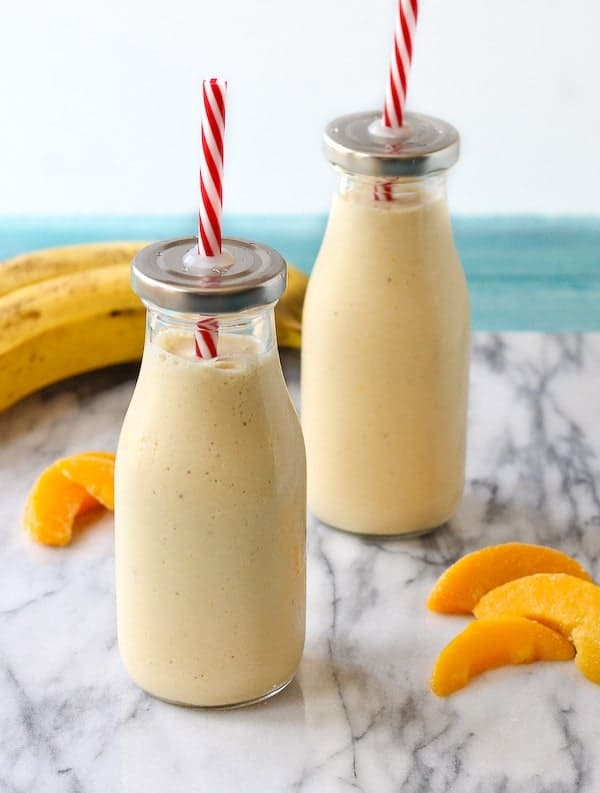 Peach Banana Honey and Cottage Cheese Smoothie Rachel Cooks