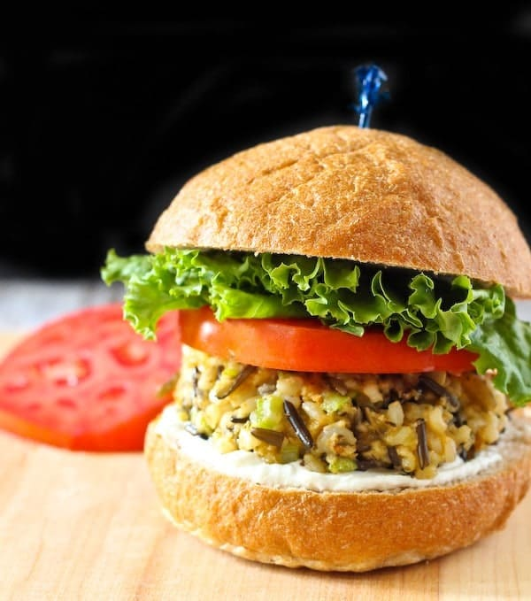 These wild rice patties are flavorful, filling and such a fun vegetarian meal! Get the kids involved in making them! Get the easy recipe on RachelCooks.com!