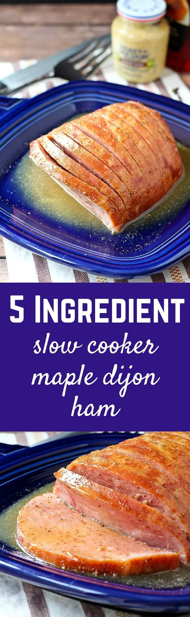 Whether you're entertaining or just looking for an easy dinner with great leftovers - this maple dijon ham is for you. Bonus: SLOW COOKER. Totally hands-off! Get the easy recipe on RachelCooks.com!