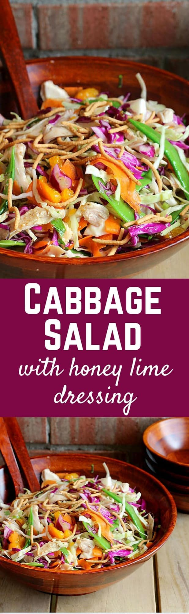 Easy Cabbage Salad using Rotisserie Chicken   RachelCooks.com