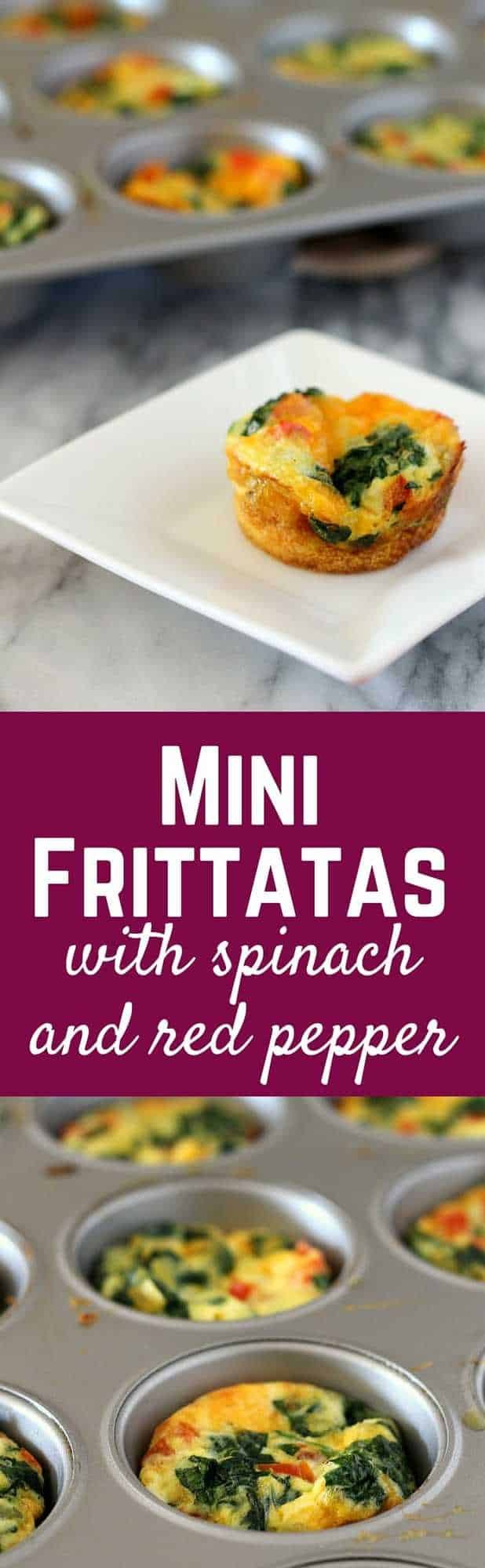Mini Frittatas with Spinach and Red Pepper - Rachel Cooks®