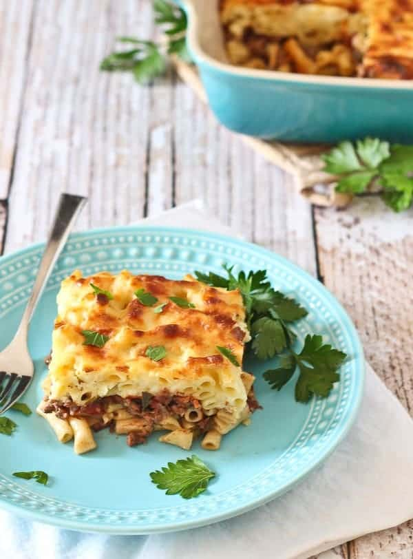 Move over, lasagna! This pastitsio is a Greek baked pasta dish and will wow your family and friends! Get the recipe on RachelCooks.com!