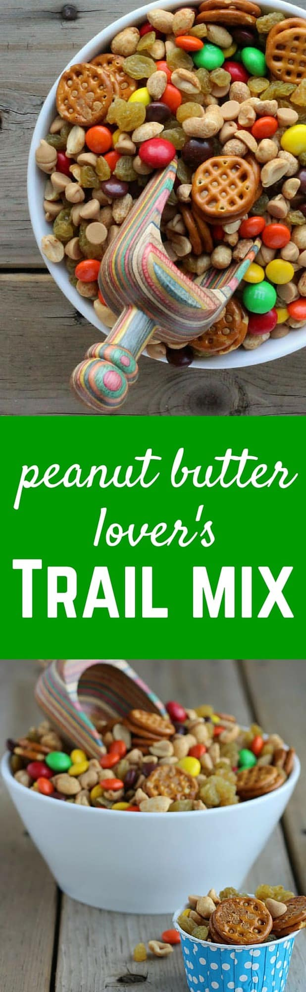 Peanut Butter Lover's Trail Mix - so much peanut butter goodness in this fun snack! Get the easy recipe on RachelCooks.com!