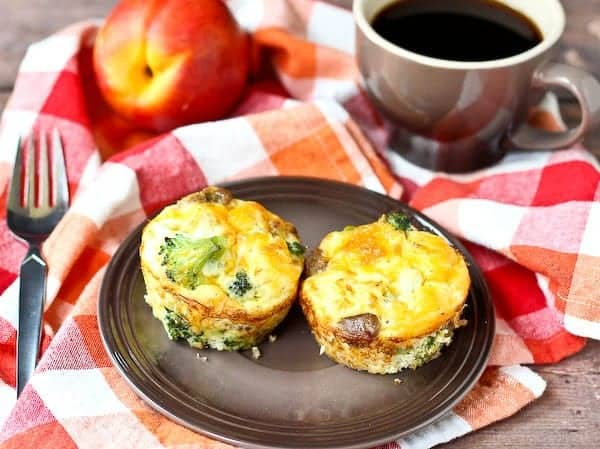 Turkey Sausage and Broccoli Egg White Frittata Muffins - Rachel Cooks
