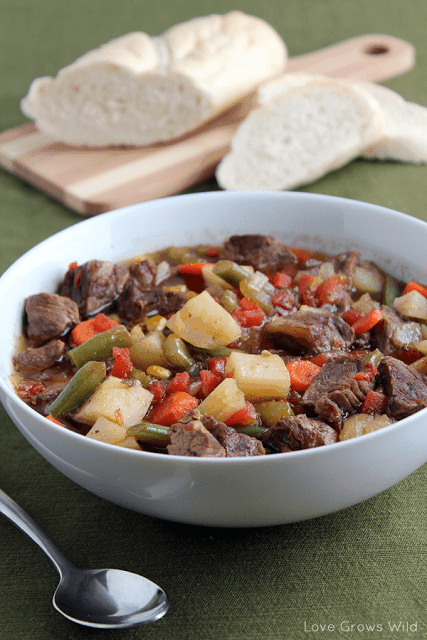 Hearty Vegetable Beef Soup - Love Grows Wild