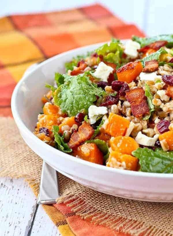 farro-salad-with-butternut-squash-bacon-kale-cranberries ...