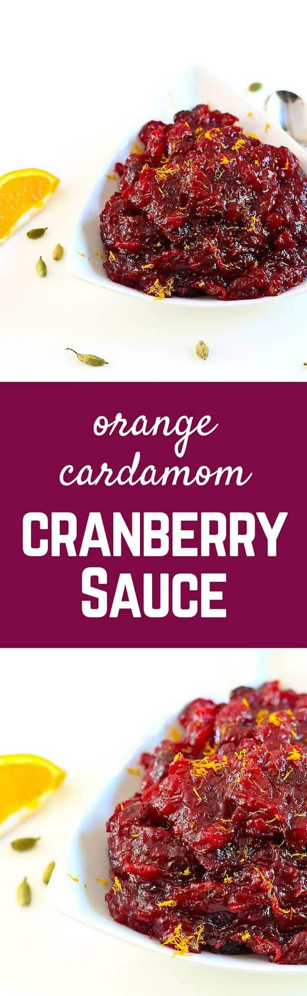 Kick your cranberry sauce game up a notch with this flavorful orange cranberry sauce with cardamom! People will be asking what your secret ingredient is. Get the recipe that's perfect for Thanksgiving on RachelCooks.com!