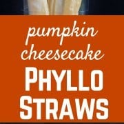 These Pumpkin Cheesecake Phyllo Straws are a great way to enjoy adecadentdessert without feeling weighed down. The flaky layers of phyllo dough turn this into a gourmet treat. Get the recipe on RachelCooks.com!