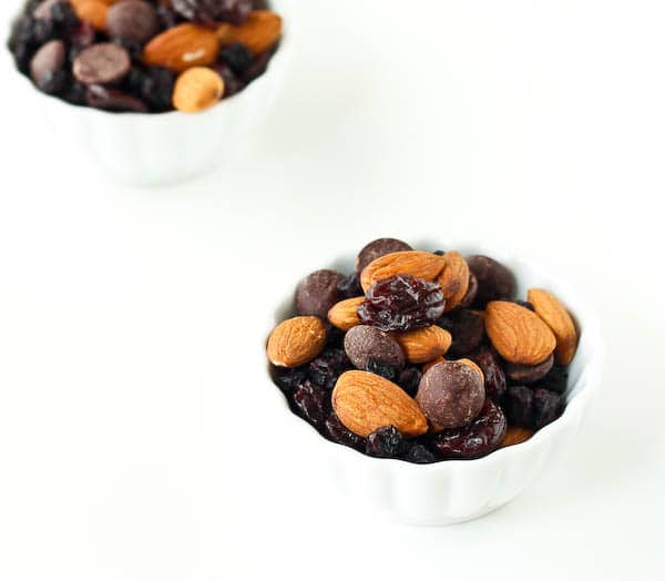 Need a snack that takes 5 minutes to make and will keep you full for hours? This superfood healthy trail mix recipe is what you need. Bonus: It includes chocolate chips. Get the easy recipe on RachelCooks.com!