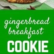 This flavorful gingerbread breakfast cookie recipe yields a filling, delicious, and healthy way to start the day. They have some fun ingredients to keep you satisfied! Get the easy recipe on RachelCooks.com!
