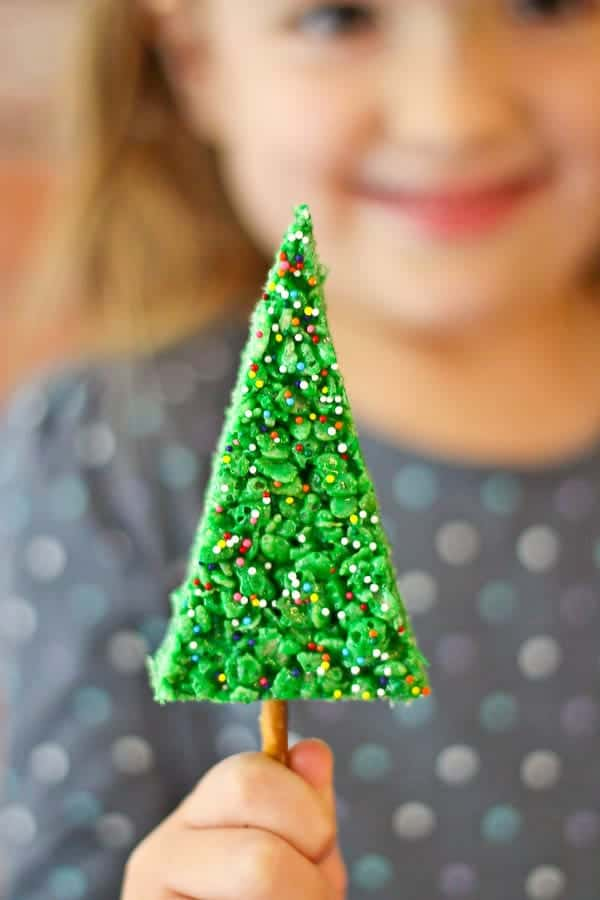 Christmas Tree Rice Krispie Treats Are SO Simple To Make And Kids Adore The  Fun Shape