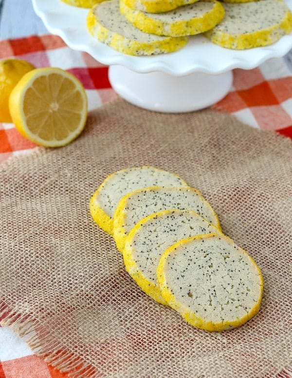 These lemon poppy seed cookies will be a dose of extra sunny cheerfulness on your cookie platters. They're easy to make and the cream cheese adds an amazing depth to the flavor. Get the easy recipe on RachelCooks.com!