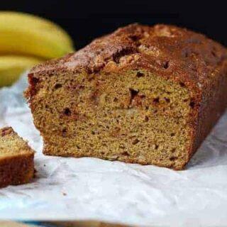 Whole Wheat Caramel Banana Bread
