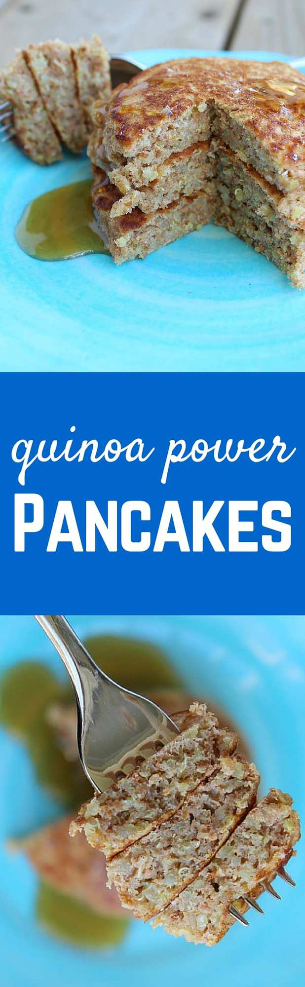 These quinoa power pancakes are a great way to start your day - this filling and healthy breakfast will keep you satisfied all day. Get the easy recipe on RachelCooks.com!