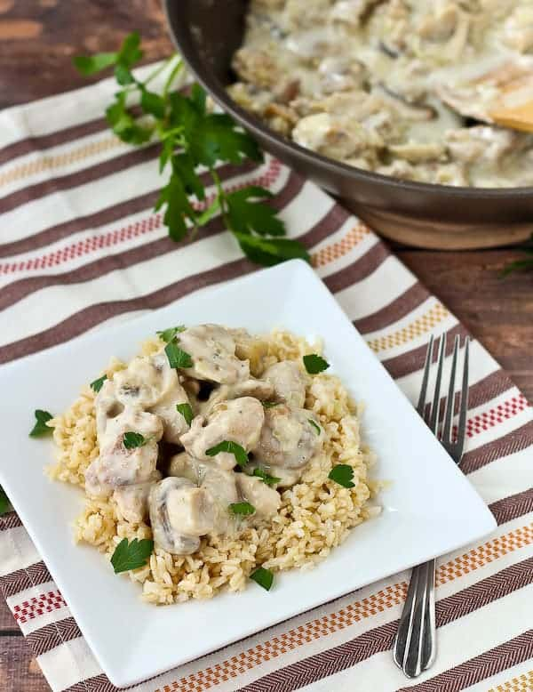 Creamy Chicken And Mushrooms With Rice Recipe Rachel Cooks