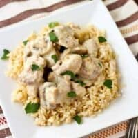 Creamy Chicken and Mushrooms with Rice