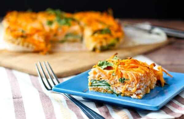 Egg White Breakfast Bake With Sweet Potato And Spinach Rachel Cooks