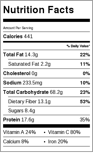 thai freekah salad nutrition