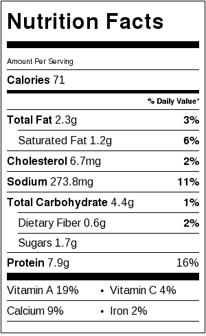 sweet potato and spinach egg white bake nutrition information