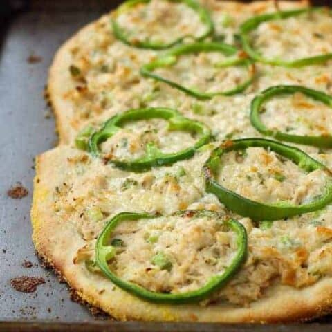 Tuna Pizza with Green Peppers